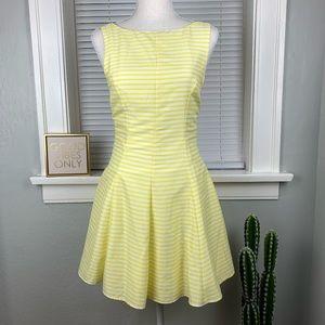Zara Trafaluc Yellow Striped Mini Dress